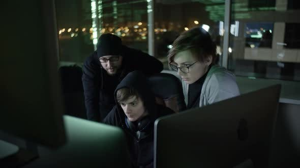Thumbnail for Young Hacker Team Cracking Network