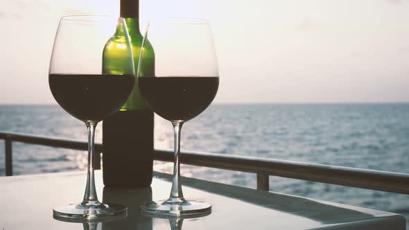 Romantic Luxury Evening on Cruise Yacht with Winery Setting