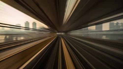 Train Ride Through Tokyo Time Lapse