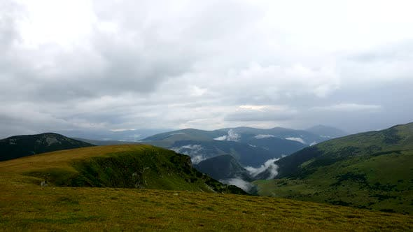 Thumbnail for Dramatic clouds timelapse, Transalpina, Romania