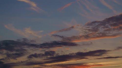 Timelapse Clouds At Sunrise