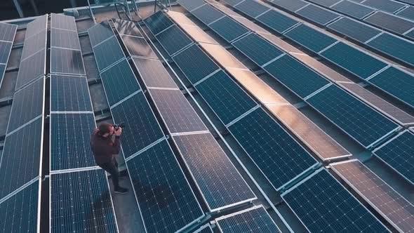 Thumbnail for Solar energy farm on roof