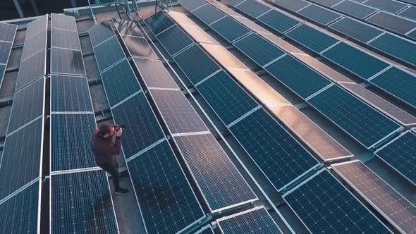 Solar energy farm on roof