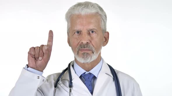 Thumbnail for Rejecting Strict Senior Doctor, White Background