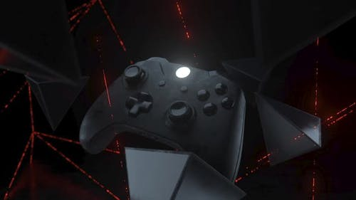 Xbox gamepad among red line