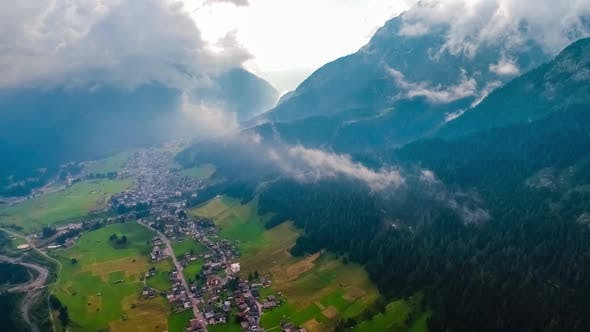 Thumbnail for Sappada Italy North-Eastern Corner of the Dolomites Alps. Aerial FPV Drone Flights