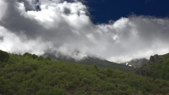 Thumbnail for Spectacular Cloud View Over The Forested Mountain Ridge