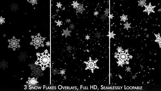 Thumbnail for Snow Flakes Overlay 2