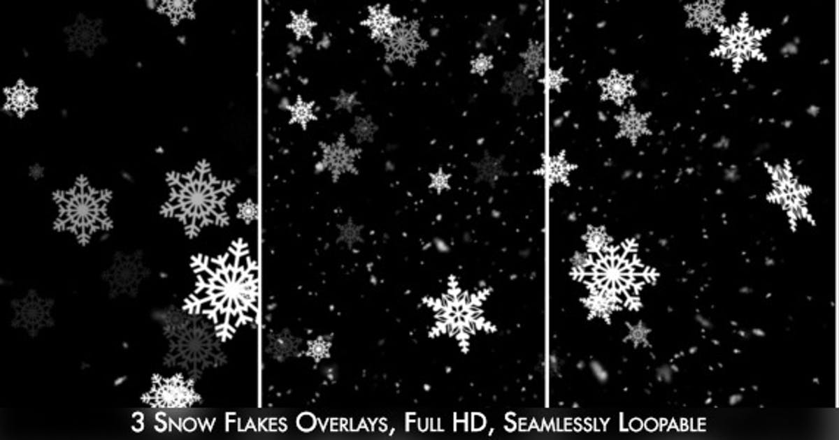Snow Flakes Overlay 2