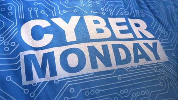 Blue Cyber Monday Concept Banner Loop