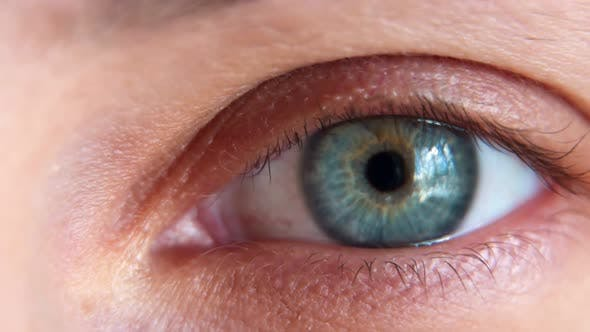 Thumbnail for Close Up Macro Eye Beautiful Blue Iris Natural Beauty