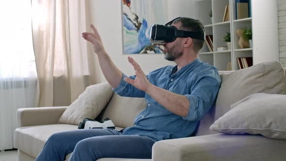 Cover Image for Busy Man Working in Virtual Reality
