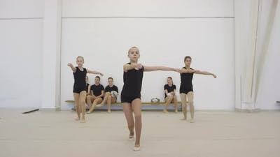 Girls Doing Cheerleading Motion