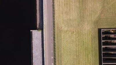 Top Down Shot of a Dam Wall