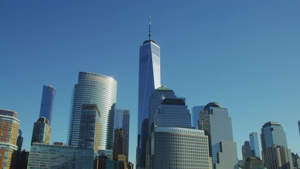 One World Trade Center and other modern buildings