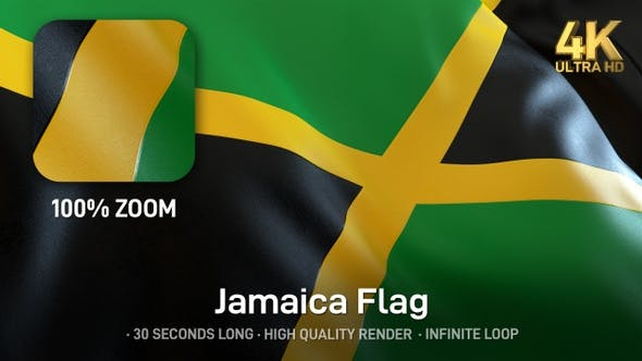Thumbnail for Jamaica Flag - 4K