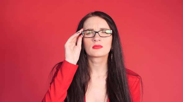 Thumbnail for Beautiful Woman Trying on Elegant and Expensive Glasses