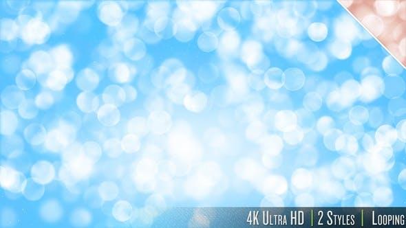 4K Soft Bokeh Particles Glitter Downwards Background