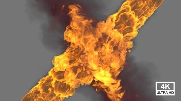 Feuer mit Rauch Streaming-Kollisionen 4K