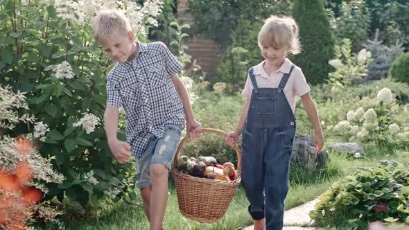 Thumbnail for Children with Basket Full of Harvest