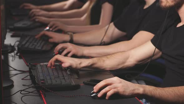 Thumbnail for Professional Gamers Participating in Online Cyber Games Tournament