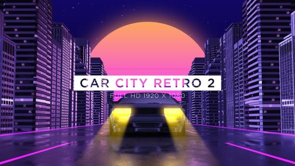 Thumbnail for Car City Retro Trip 2 Vj Loops Background