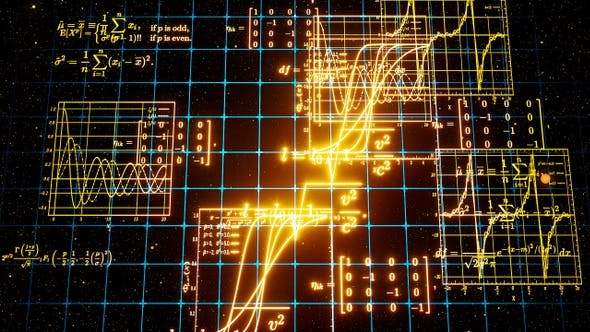 Thumbnail for Glowing Math Formulas In Space
