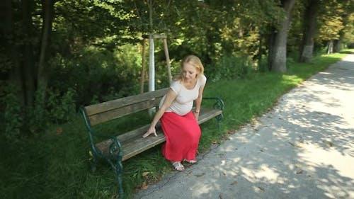 Pregnant Woman Enjoying Summer Day