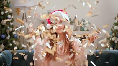 Christmas Spirit Sad Girl