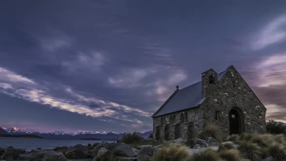 Timelapse of New Zealand iconic church