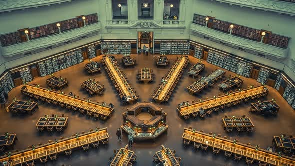 Thumbnail for Timelapse of library in Melbourne