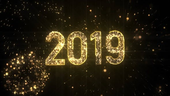Thumbnail for New Year 2019 Gold Background