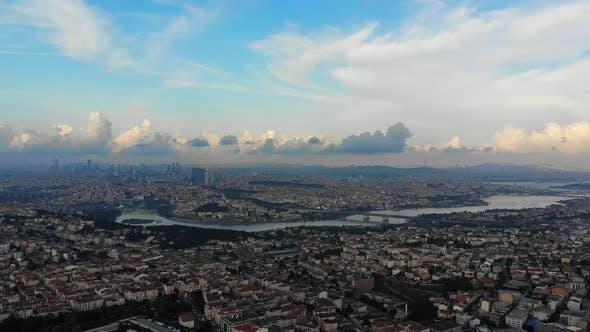 Thumbnail for Istanbul Golden Horn Bosphorus Aerial View