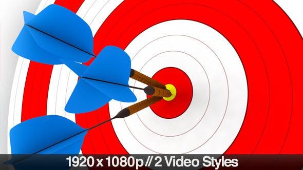 Thumbnail for Darts Hitting a Target Bullseye - 2 Styles