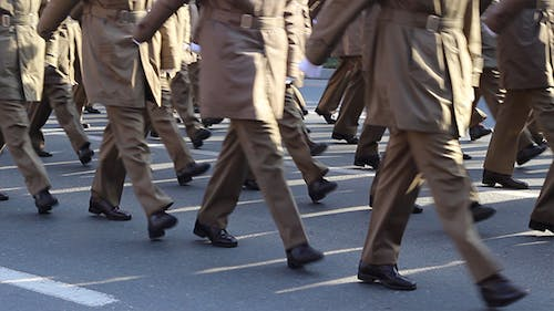 Military Marches Past