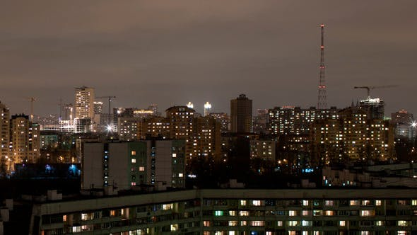 Cover Image for Industrial City Time Lapse By Night