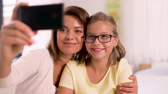 Thumbnail for Happy Family Taking Selfie By Smartphone at Home 23