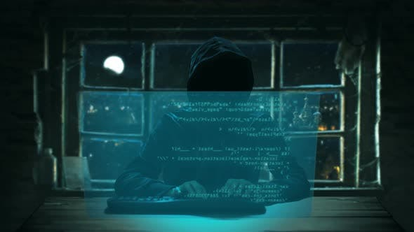 Thumbnail for Russian Hacker engagiert sich in den Hintergrund des Fensters