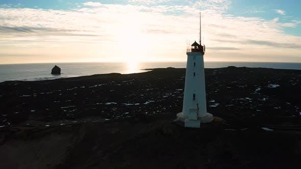 Thumbnail for Reykjanesviti Lighthouse on Reykjanes Peninsula in Southern Iceland