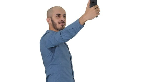 Thumbnail for Selfie time! Handsome young man taking selfie with his