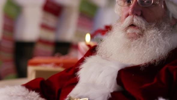 Thumbnail for Closeup portrait of Santa Claus