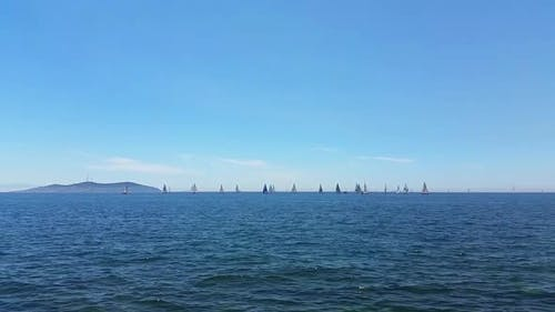 Sailboats by the shore, Caddebostan, Istanbul