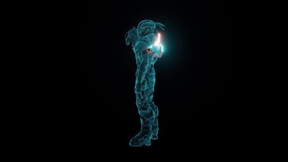 Alien Soldier Hologram Hd