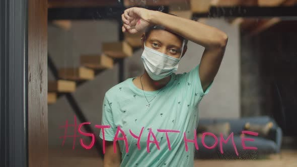 Thumbnail for Sick Female Stay Isolated at Home for Quarantine