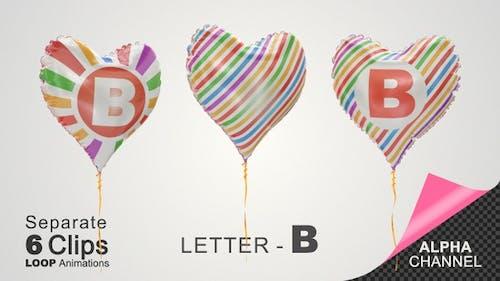 Luftballons mit Buchstaben - B