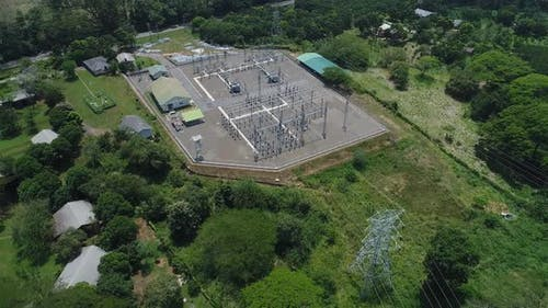 Flyover Around a Power Substation