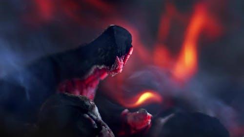 Coal Fire Burning