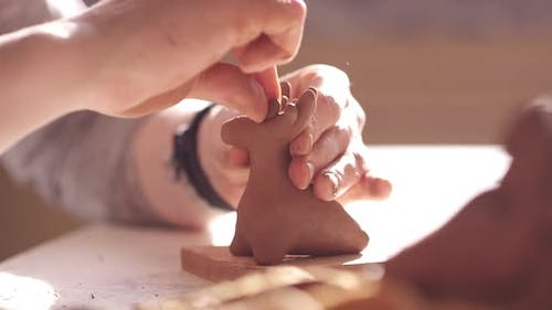 Sculpting of a Clay Toy