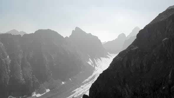 Thumbnail for Majestic View of High Rocky Mountains and Glacier.
