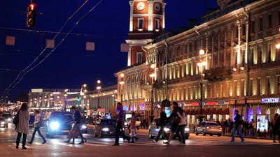 Nevsky Avenue At Night